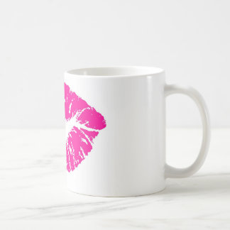 Pink Lips Basic White Mug