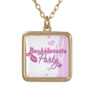 pink lips cherries bachelorette party bridal necklaces