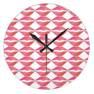 Pink Lips Clocks