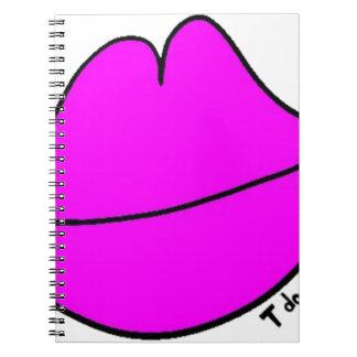 Pink Lips Spiral Notebook