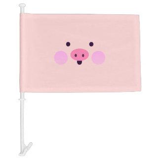 Pink Little Piggy Car Flag