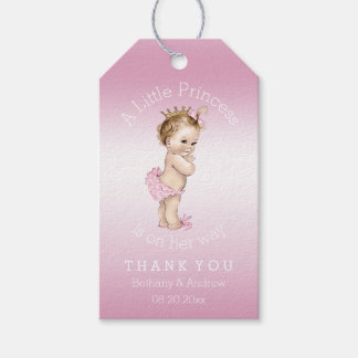 Pink Little Princess Baby Shower Personalized Pack Of Gift Tags