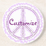 Pink Live Electric Energy Peace Sign Coasters