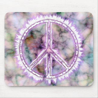 Pink Live Electric Energy Peace Sign Mouse Pad