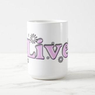 pink LIVE mug