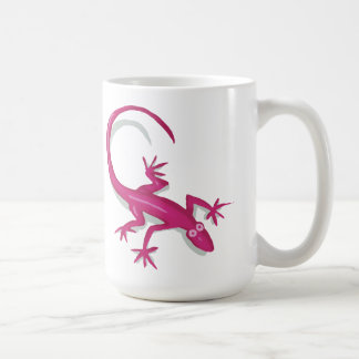 pink lizard mug