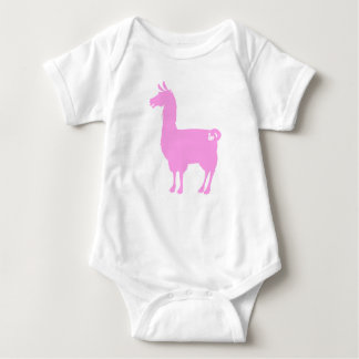 Pink Llama Baby Bodysuit