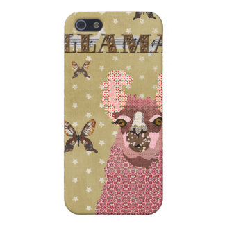 Pink Llama Golden Stars i Case For iPhone 5/5S