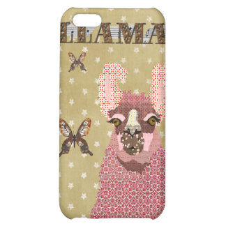 Pink Llama Golden Stars i iPhone 5C Covers
