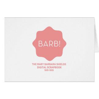 Pink Logo Card