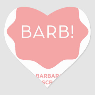 Pink Logo Heart Sticker