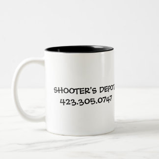 pink-logo-lc, SHOOTER'S DEPOT423.305.0747 Two-Tone Coffee Mug