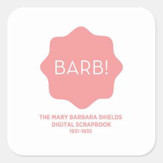 Pink Logo Square Sticker