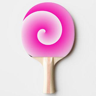 Pink Lollipop Swirl Ping Pong Paddle