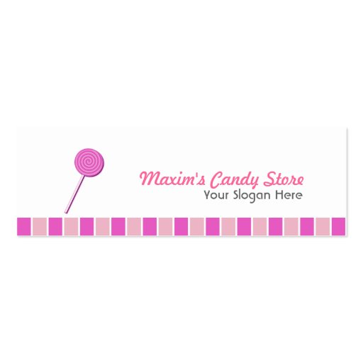 Pink Lollypop Business Cards