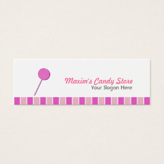 Pink Lollypop Mini Business Card