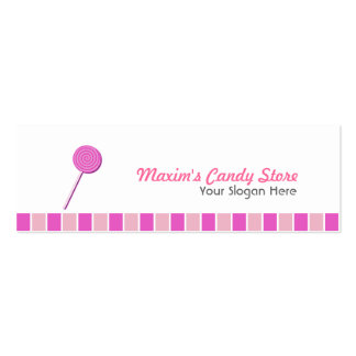 Pink Lollypop Pack Of Skinny Business Cards