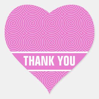 Pink Lollypop Pattern Heart Sticker