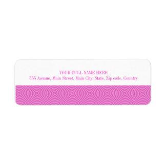 Pink Lollypop Pattern Return Address Label