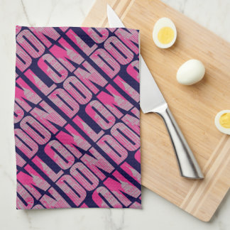 Pink London Tea Towel