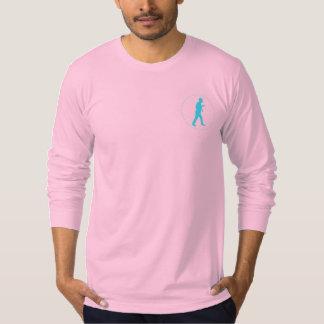 Pink Long Sleeve Crew Neck w/ Logo T-shirt