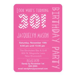 Pink Look Who's Turning 30 Birthday Invitation