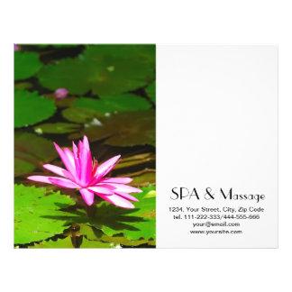Pink lotus 21.5 cm x 28 cm flyer