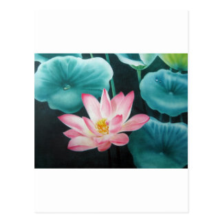 pink lotus 2 postcard