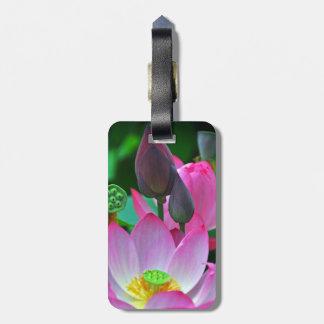 Pink Lotus Blossoms Bag Tag
