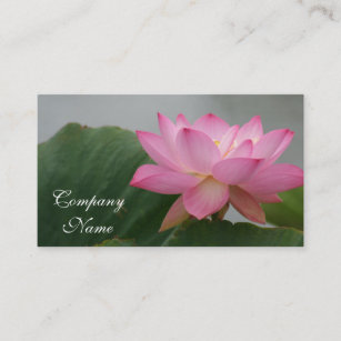 Lotus blossom business cards zazzle au pink lotus flower business card mightylinksfo