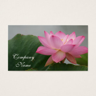 Pink Lotus flower Business Card