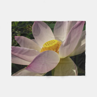 Pink Lotus Flower III Elegant Water Floral Fleece Blanket