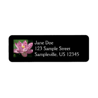 Pink Lotus Flower IV Return Address Label