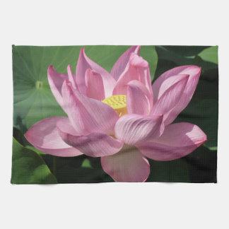 Pink Lotus Flower IV Tea Towel