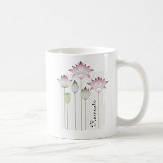 Pink Lotus Flower Namaste Elegant Chic Name Coffee Mug