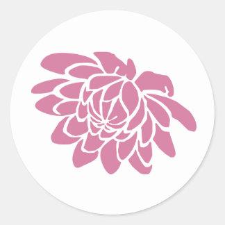 Pink Lotus Flower Sticker (white)