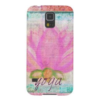 Pink Lotus Flower yoga Galaxy S5 Cases