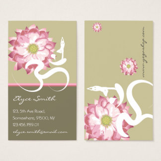 Pink Lotus Flower Yoga Om Zen Asian Profile Card