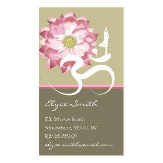 Pink Lotus Flower Yoga Om Zen Asian Profile Card Pack Of Standard Business Cards