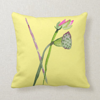 Pink Lotus Flower Zen Buddhist Art Cushion