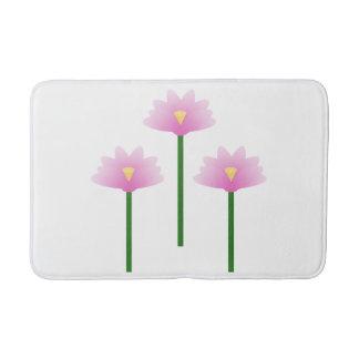 Pink Lotus flowers Bath Mat