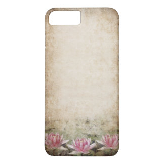 Pink Lotus Grunge Barely There iPhone 7 Plus Case