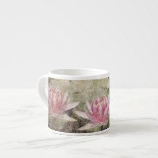 Pink Lotus Grunge Espresso Cup