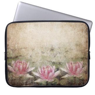 Pink Lotus Grunge Laptop Sleeve