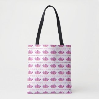 Pink Lotus Love Tote Bag