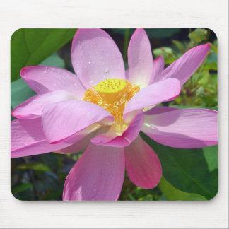 Pink Lotus Mouse Pad