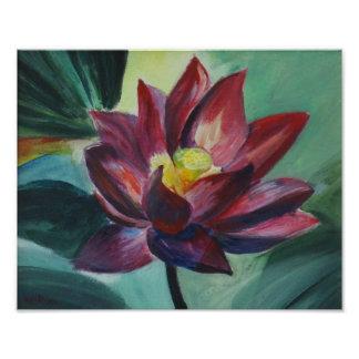 Pink Lotus Painting , Kodak Professional Paper Photo Print