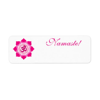 Pink lotus return address label
