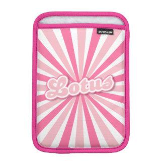 Pink Lotus Solar Rays iPad Mini Sleeve