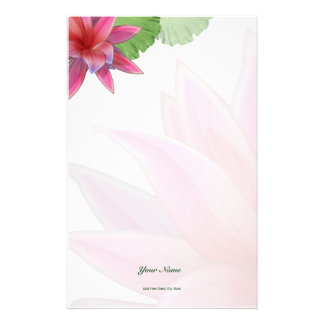 Pink Lotus Stationery